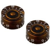 2 BOUTONS LOUPE CHOCOLATE BROWN US