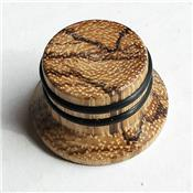 1 BOUTON HAT ZEBRAWOOD GRIP 6mm