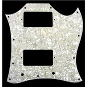 PICKGUARD SG FULL FACE TYPE ALLPARTS WHITE PEARLOID