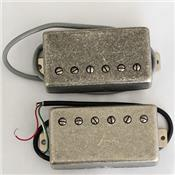 SET MICROS HUMBUCKER AlNiCo V ANTIQUE SILVER 4 FILS