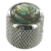 1 BOUTON DOME COSMO BLACK TOP ABALONE 6.35mm