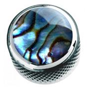 1 BOUTON DOME CHROME TOP ABALONE 6.35mm