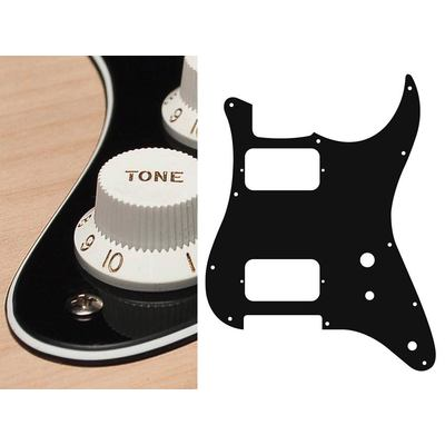 PICKGUARD STRAT HH TOGGLE SWITCH NOIR CREME 3 PLIS