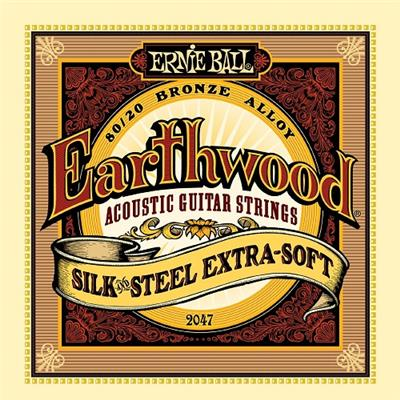 CORDES ACOUSTIQUE ERNIE BALL 2047 EARTHWOOD SILK AND STEEL 10-50