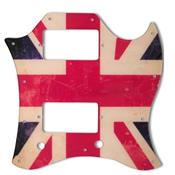 PICKGUARD SG FULL FACE WD MUSIC BRITISH FLAG RELIC