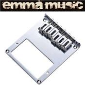CHEVALET TELE HUMBUCKER CHROME 6 PONTETS 10.5mm
