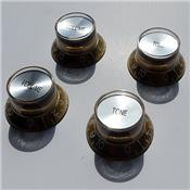 4 BOUTONS REFLECTOR DORES SOMMET ARGENT IMPORT
