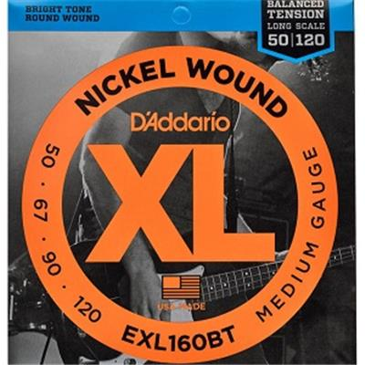 CORDES BASSE D'ADDARIO EXL160BT 50-120 BALANCED TENSION